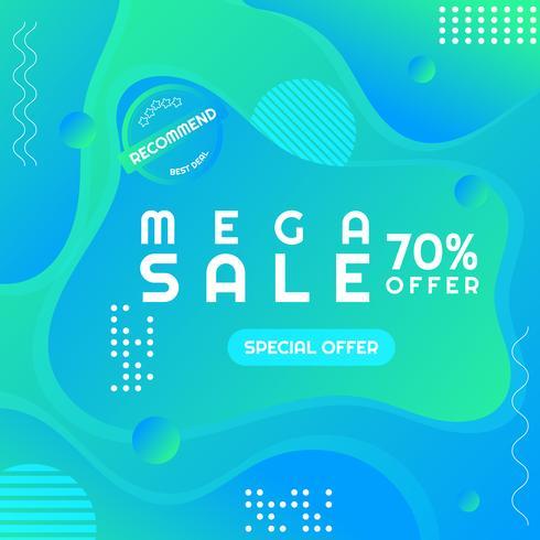 Moderner Verkaufsplakat-Großverkauf Memphis-Artraum für Ihren Text vektor