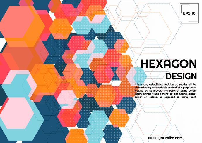 Abstrakt hexagonbakgrund vektor