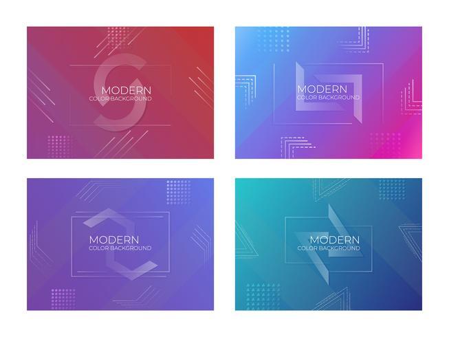 Moderne Farbhintergrundlinie Art und Schatten mit Halbtonbild vektor