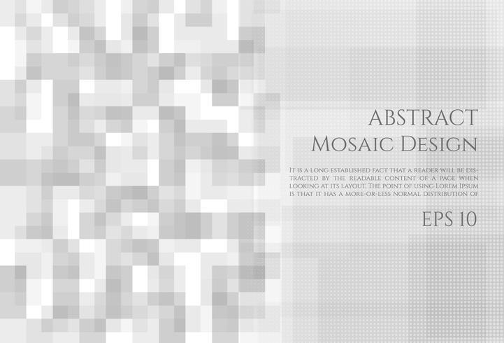 Mosaikhintergrund-Zusammenfassungsdesign vektor