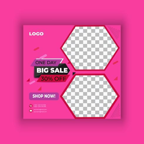 Stor försäljning sociala medier post design vektor