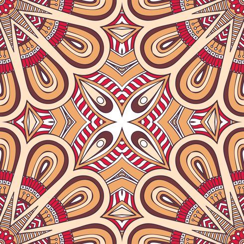 Seamless mönster i etnisk stil. Vintage dekorativa element. vektor