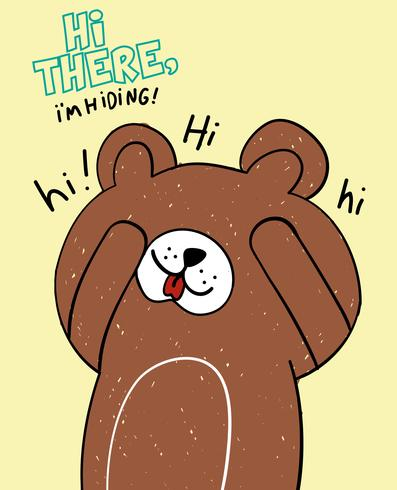 Hej där björn vektor