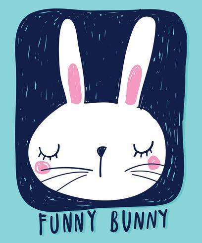 Rolig kanin vektor