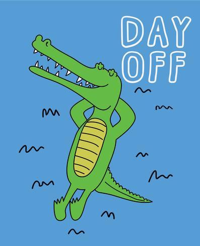 Freier Tag Krokodil vektor