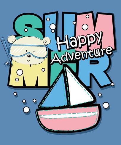 Summer Happy Adventure Poster vektor