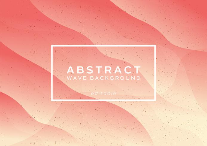 Pfirsich abstrakte Welle Hintergrund vektor