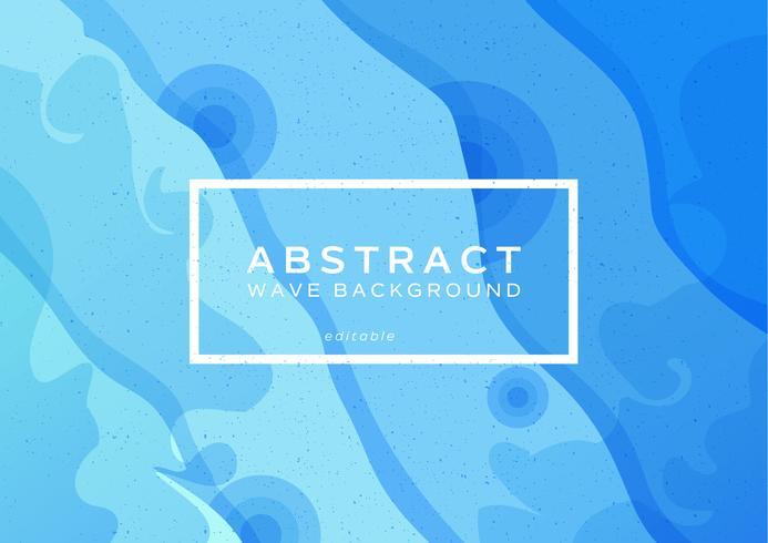 Blå våg abstrakt bakgrund vektor
