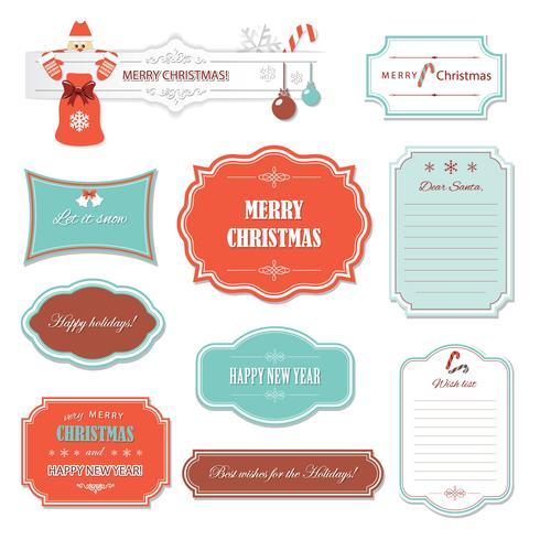 Weihnachten und Happy New Year Rahmen und Banner. vektor
