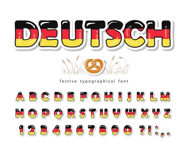 Deutschland Cartoon Schriftart vektor