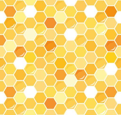 Honungskakan sömlös bakgrund. vektor