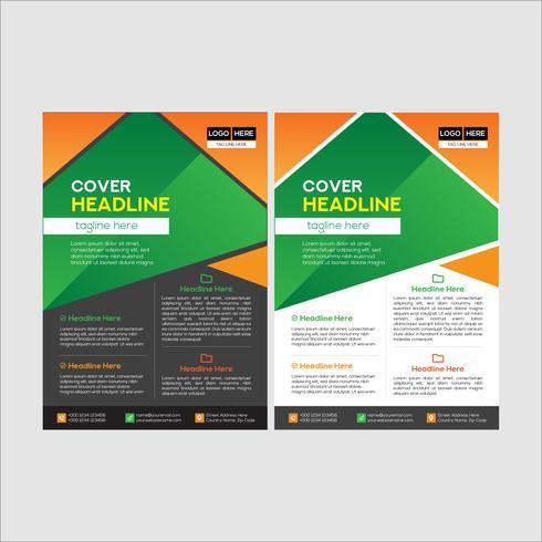 Enkel och ren modern affärsreklambladdesign vektor