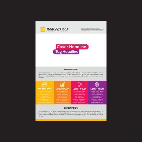 Unternehmensstrategie Flyer Design vektor