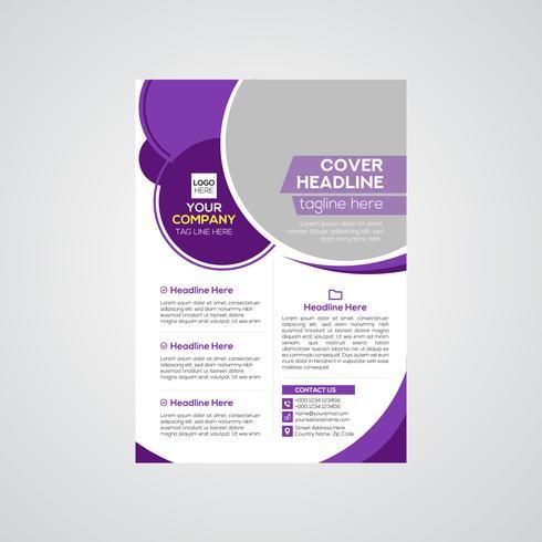 Företags modern design för reklamblad vektor