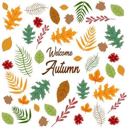 Herbst treibt Musterbeschaffenheit bacground Blätter vektor