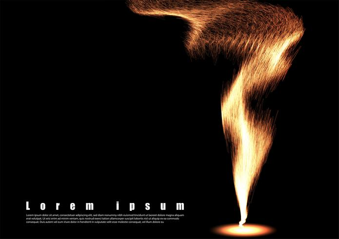 Tapet våg flamma bakgrund vektor