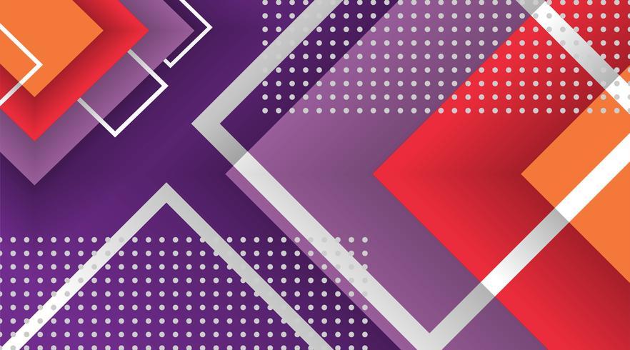 Geometriska element för abstrakt memphisbakgrund vektor
