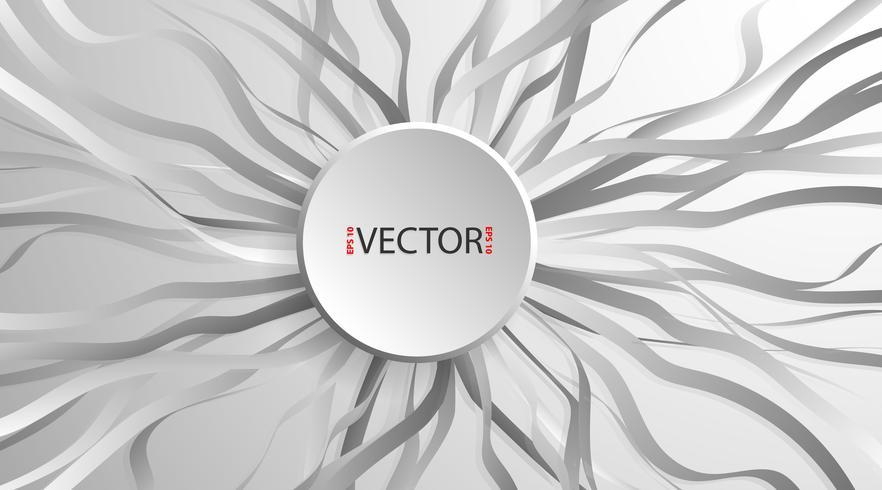 Kreisen Sie Papierfahnen mit Schlagschatten und Wellenband ein vektor