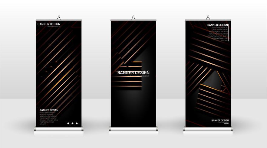 Vertikal banner mall design vektor