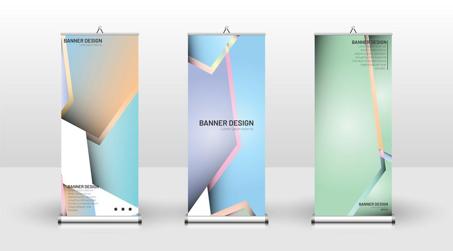 Vertikalt pastell banner vektor