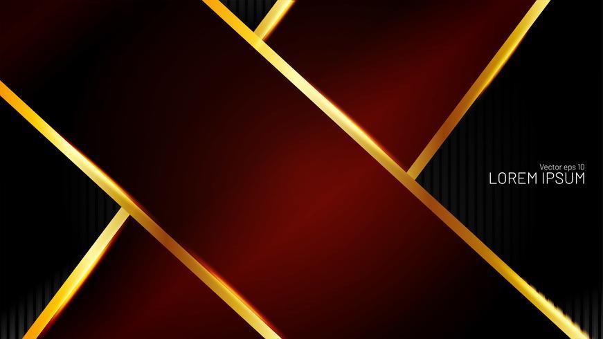 Abstrakter roter Pfeil mit schwarzem Hintergrund vektor