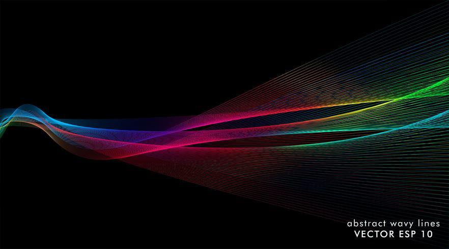 bakgrund våg linjer vektor