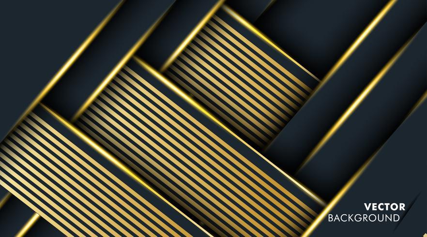 Goldabstrakte Hintergrundüberlappungsfarbe vektor