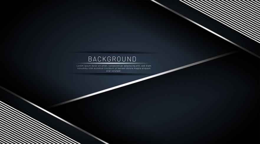 Dunkelblauer Hintergrund, der mit einer Linie überlappt vektor