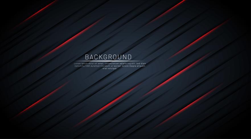 Dunkelblauer Hintergrund mit roten Schattenlinien vektor