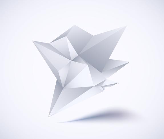 Geometrisches niedriges Polygon vektor