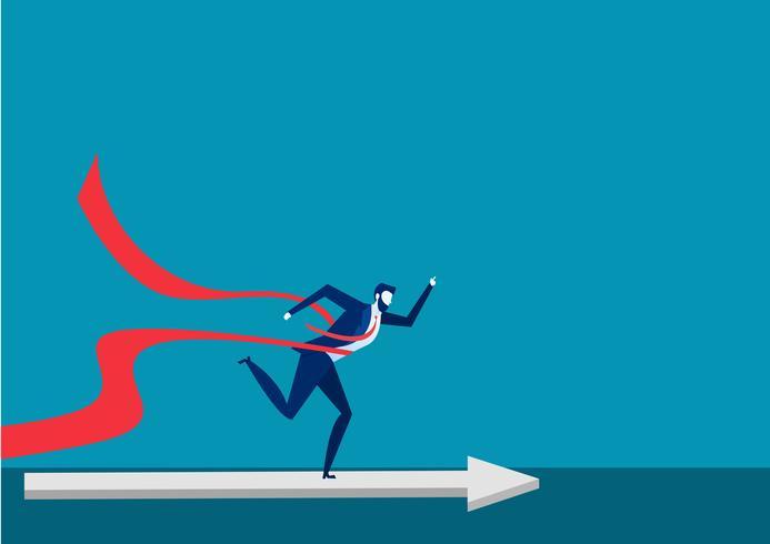 Affärsfolk springer till mål vektor
