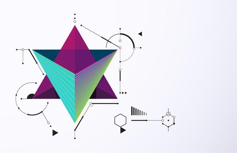 Abstrakte Technologie Bewegungsform vektor