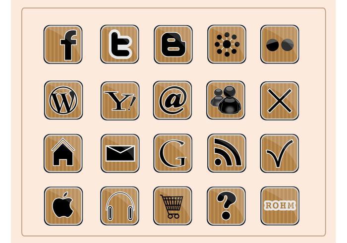 Social Web Icons vektor