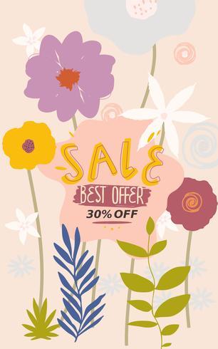 Flower Sale webbplats banner vektor