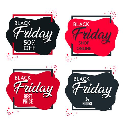 Black Friday försäljningsetiketter designelement vektor