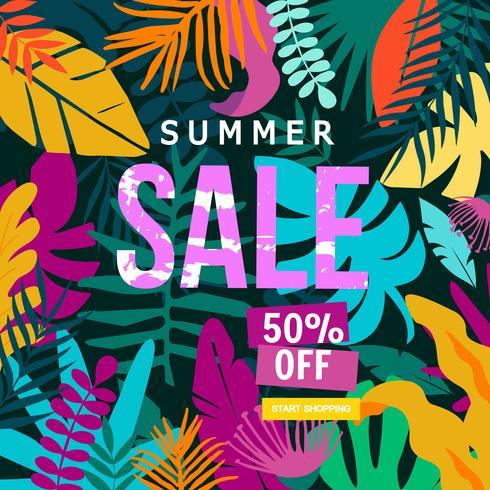 Summer Sale webbplats banner vektor