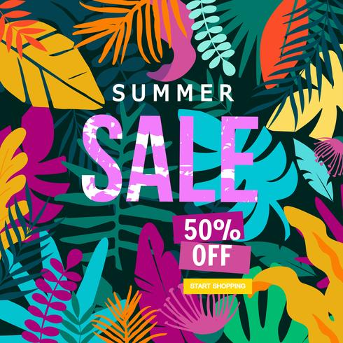Summer Sale-Website-Banner vektor