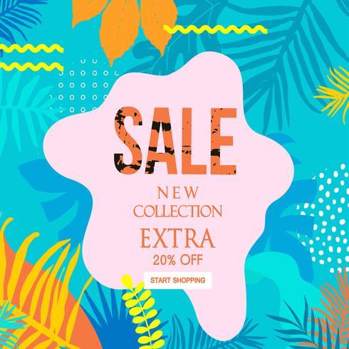 Extra Sale webbplats banner vektor