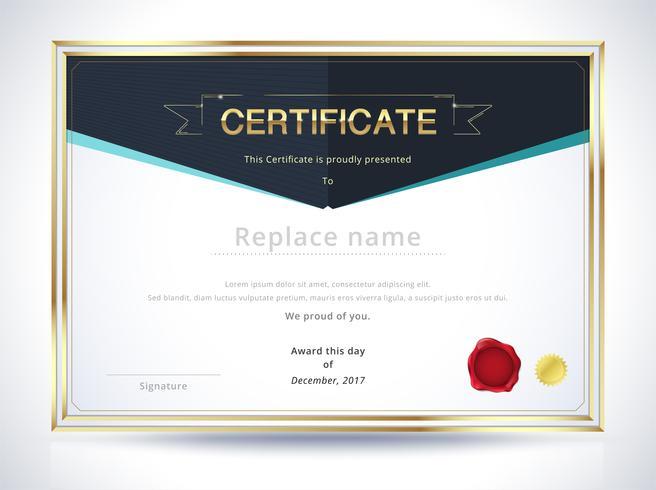 Diplom Zertifikat Vorlage vektor