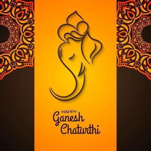 Dekoratives Mandala Ganesh Chaturthi Design vektor
