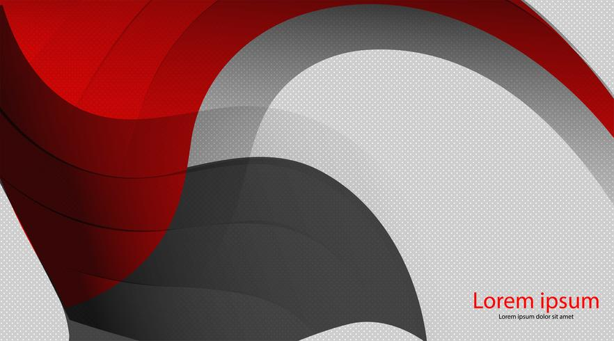 Dunkles Maschenkreisdesign der abstrakten roten grauen Welle vektor