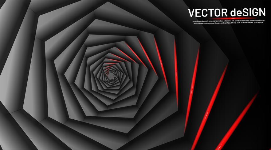 Optiska illusioner i form av en rundad sexkant vektor