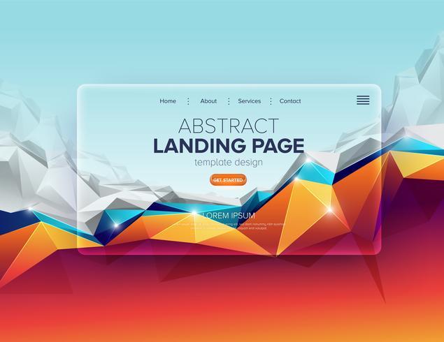Abstrakt Polygon Landing Page Design vektor