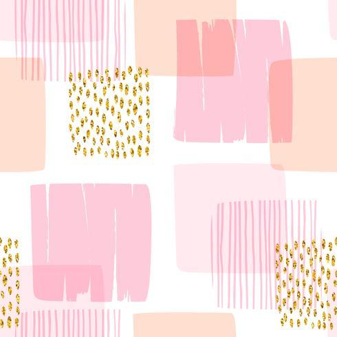 Abstraktes geometrisches nahtloses Muster mit Quadraten vektor