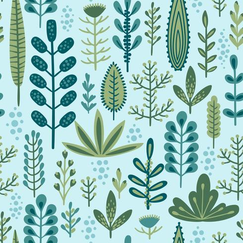 Botanisches nahtloses Muster vektor