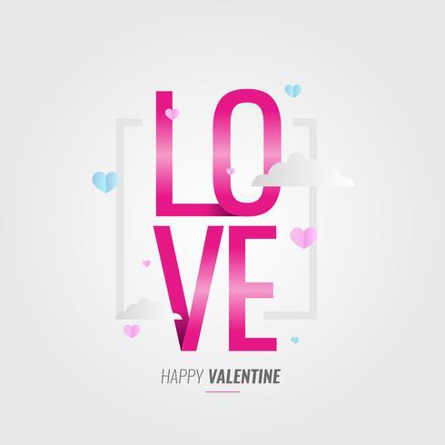 Liebe Typografie zum Valentinstag vektor