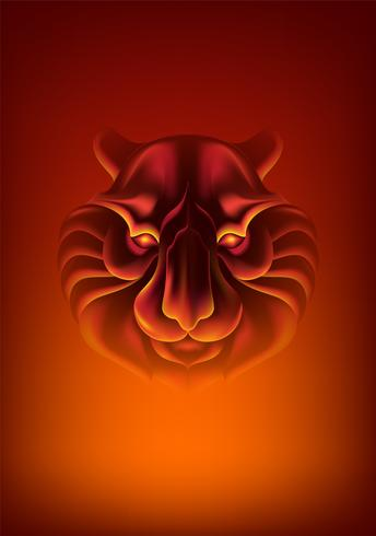 Abstraktes Tiger-Gesicht vektor