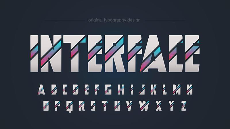 Abstrakt geometrisk futuristisk typografi vektor