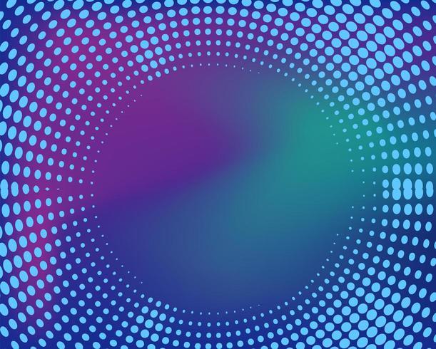 Halvtongradient prickar cirkulär ram vektor