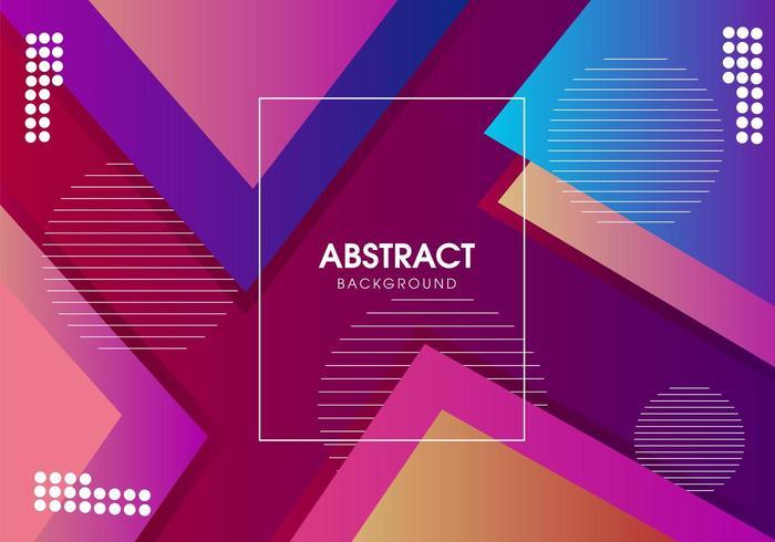 Abstrakt modern geometrisk vektor